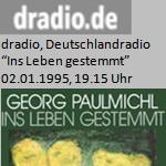 """Buchbesprechung, """"Ins Leben gestemmt"""", Radio - Deutschlandradio, am 02.01.1995"""