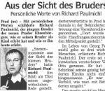Aus der Sicht des Bruders - Artikel, Dolomiten, 22.10.2007