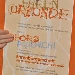 Verleihung der Ehrenbürgerschaft – Prad am Stilfserjoch - an Georg Paulmichl, 2007