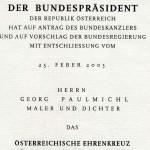 Ehrenkreuz für Wissenschaft und Kunst - der Republik Österreich