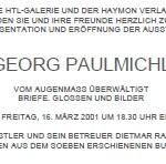 Vom Augenmass überwältigt, Buchpräsentation - am 16.03.2001, HTL-Galerie in Innsbruck