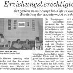 Erziehungsberechtigte Tiere - Artikel, Tageszeitung, 20.05.2001