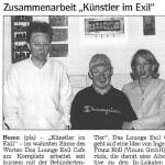 Künstler im Exil, Bozen - Artikel, Dolomiten, 19.05.2001