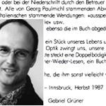 strammgefegt, zu diesem Buch - von Gabriel Grüner