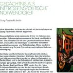 Gedächtnis als interessenspolitische Notwendigkeit - Das Georg-Paulmichl-Archiv