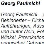 Georg Paulmichl - Vorwort