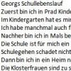 Georgs Schullebenslauf