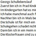 Georgs Schullebenslauf - ein Gedicht von Georg Paulmichl