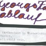 Georgs Tagesablauf - ein Text von Georg Paulmichl