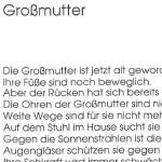 Großmutter - ein Gedicht von Georg Paulmichl