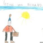 Gruss von Richard - Richard an Georg, Korrespondenz nach Jupident, Schuljahr 1967/1968
