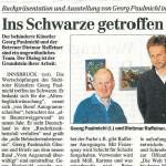 Ins Schwarze getroffen - Artikel, Tiroler Tageszeitung, 16.03.2001