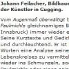 Johann Feilacher: Was ich lese