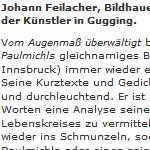 Johann Feilacher: Was ich lese - Artikel, Die Presse, 24.08.2002
