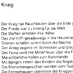 Krieg - ein Gedicht von Georg Paulmichl