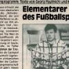 Elementarer Geist des Fußballsports