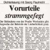 Vorurteile strammgefegt, Dichterlesung mit Georg Paulmichl