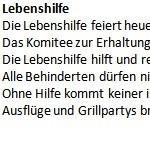 Lebenshilfe - ein Gedicht von Georg Paulmichl