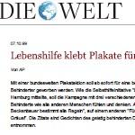 Sympathiekampagne der Lebenshilfe Deutschland, Aktion - Artikel, Internet, Die Welt, 10.10.1999
