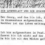 Der Lebenslauf von der Geburt - ein Text von Georg Paulmichl