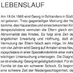 Georg Paulmichl, geboren am 18.04.1960 - Lebenslauf Georg Paulmichls, von Otto Paulmichl – Vater