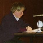 """Georg Paulmichl liest aus """"Verkürzte Landschaft"""" - am 06.04.1990, Lesung zur Buchpräsentation, Kulturhaus Lana"""