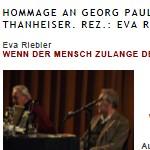 Hommage an Georg Paulmichl - Artikel, LitGes, Jänner 2011