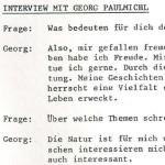 Interview mit Georg Paulmichl - aus: LOS, Sondernummer Verkürzte Landschaft, 1984