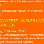Konzert, Lukas Rohner, Improvisierte Ländler und Ausländer, Basel - am 06.10. 2001, wildwuchs – Kulturfestival für Solche und Andere, Basel