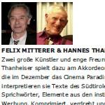 Felix Mitterer und Hannes Thanheiser lesen Georg Paulmichl - am 12.03.2011, Lesung und Konzert, Tischlerei Melk, Kulturwerkstatt