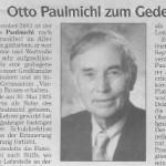 Otto Paulmichl zum Gedenken - Artikel