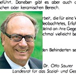 strammgefegt, Begleitwort - von Otto Saurer