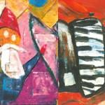 """""""Nikolaus"""", """"Klavier"""", Aktion - Postkartenaktion, Werkstatt für Behinderte Prad"""