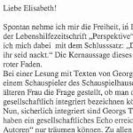 Liebe Elisabeth! - Korrespondenz, Dietmar Raffeiner an Elisabeth Höglinger