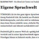 Eigene Sprachwelt - Artikel, Reutlinger General-Anzeiger, 09.06.2012