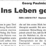 Unipress – Georg Paulmichl: Ins Leben gestemmt - Artikel, Unipress, Oktober 1994