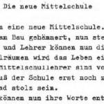 Die neue Mittelschule - ein Gedicht von Georg Paulmichl