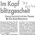 Im Kopf blitzgescheit - Artikel, TAZ, 26.03.1991
