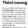 Arthur Thöni liest Georg Paulmichl