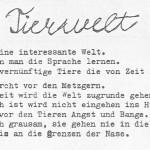 Tierwelt - ein Text von Georg Paulmichl