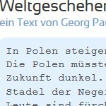 Weltgeschehen - ein Text von Georg Paulmichl