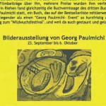 Ausstellung, Georg Paulmichl, Basel - vom 23.09. bis 06.10.2001, Basel, Kasernenareal