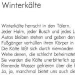 Winterkälte - ein Gedicht von Georg Paulmichl