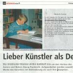Lieber Künstler als Depp - Artikel, wissenswert, Beilage Tiroler Tageszeitung, 08.10.2013